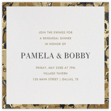 Oil Drop - Sandstone - Jonathan Adler - Invitations