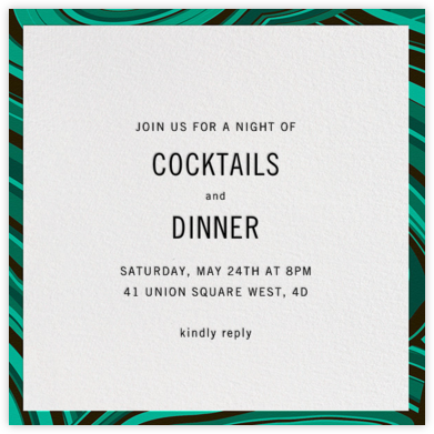 Malachite (Invitation) - Green - Jonathan Adler -