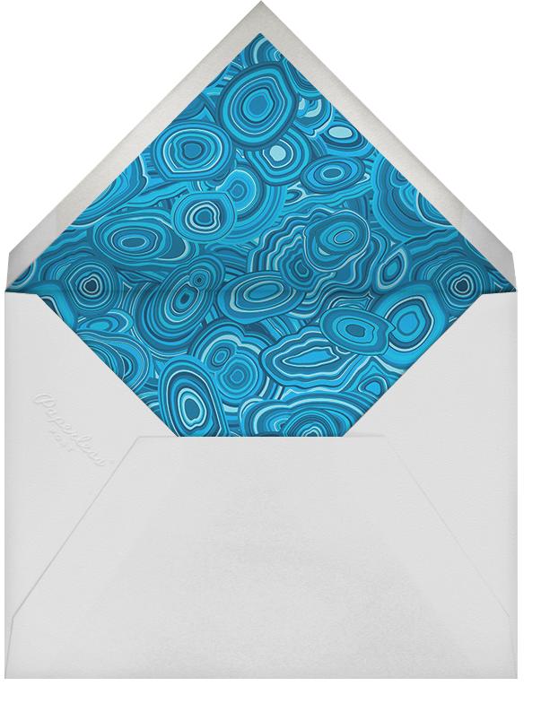 Malachite (Invitation) - Blue - Jonathan Adler - General entertaining - envelope back