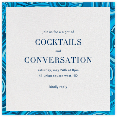 Malachite (Invitation) - Blue - Jonathan Adler -