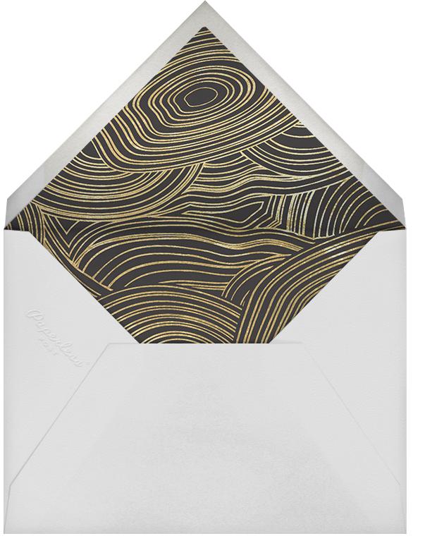 Malachite (Invitation) - Gold - Jonathan Adler - Engagement party - envelope back