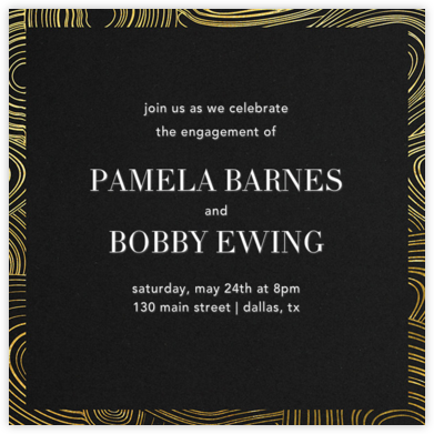 Malachite (Invitation) - Gold - Jonathan Adler - Engagement party invitations