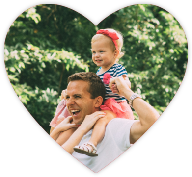 Full Bleed Heart - Blue - Paperless Post - Father's Day cards
