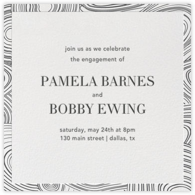 Malachite (Invitation) - Ivory - Jonathan Adler - Engagement party invitations
