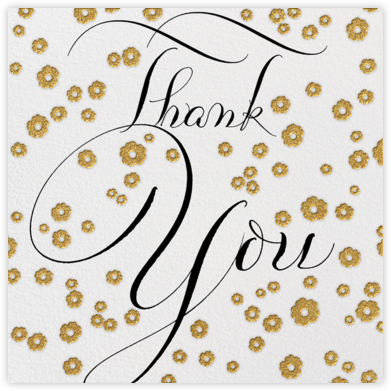 Gold Blossom Thank You - Bernard Maisner - Bernard Maisner Invitations