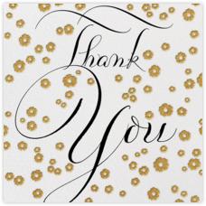 Gold Blossom Thank You - Bernard Maisner - Online greeting cards