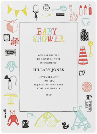 Oh, a Baby! - Mr. Boddington's Studio - Online Baby Shower Invitations