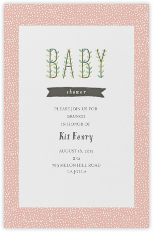 Blooming Baby - Guava - Mr. Boddington's Studio - Celebration invitations