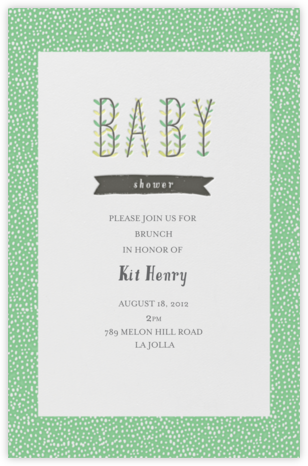 Blooming Baby - Great Scot - Mr. Boddington's Studio - Baby shower invitations