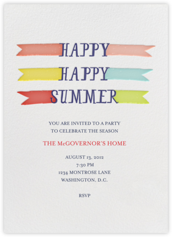 Another Ice Cream Sandwich, Please - Brights - Mr. Boddington's Studio - Summer Party Invitations