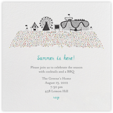 Coney Island Summer - Mr. Boddington's Studio - Summer Party Invitations