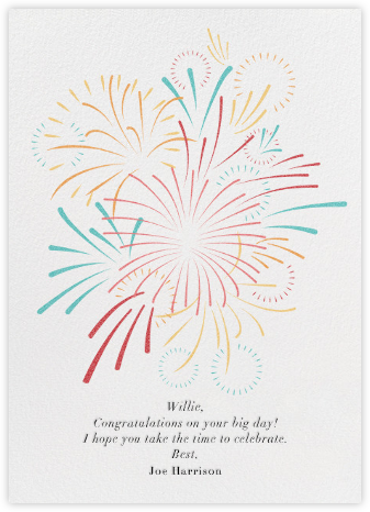 Skybursts - White - Paperless Post - Congratulations cards