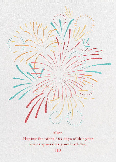 Skybursts - White - Paperless Post - Birthday cards