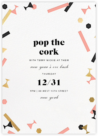 Confettitini - Paperless Post - New Year's Eve Invitations