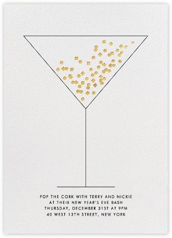 Confetti Martini - Paperless Post - New Year's Eve Invitations