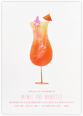 Tequila Sunrise - Paperless Post - Bachelorette Party Invitations