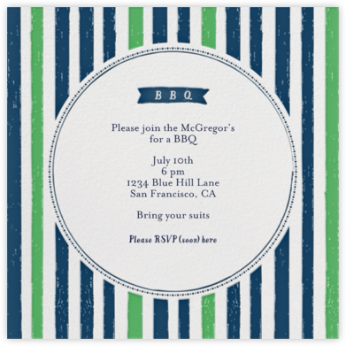 I'll Take Two Burgers - Great Scot - Mr. Boddington's Studio - Summer Party Invitations
