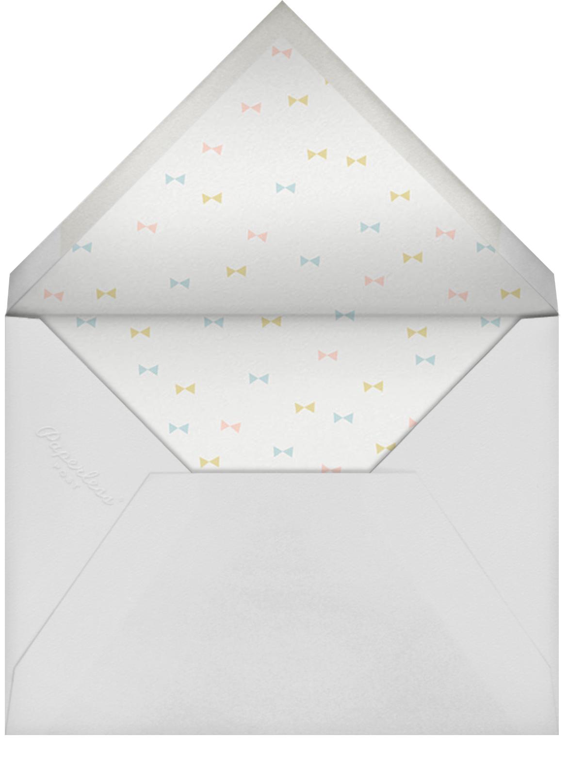 First Flight - Mint - Little Cube - Baby shower - envelope back