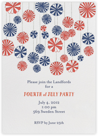 Mr. Porter's Ribbons - Navy - Mr. Boddington's Studio - Summer Party Invitations
