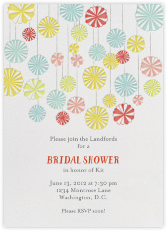 Mr. Porter's Ribbons - Brights - Mr. Boddington's Studio - Bridal shower invitations