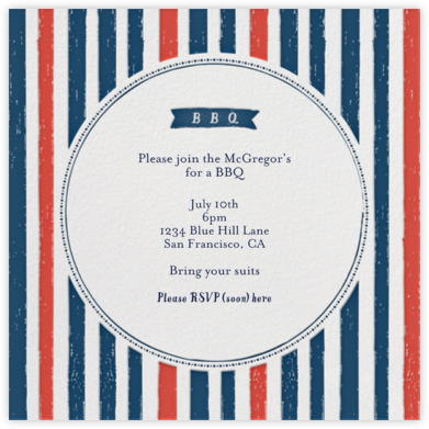 I'll Take Two Burgers - Lipstick - Mr. Boddington's Studio - Summer Entertaining Invitations