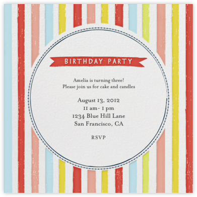 Chocolate or Vanilla Ice Cream - Brights - Mr. Boddington's Studio - Online Kids' Birthday Invitations