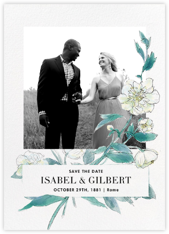 Ikebana (Photo Save the Date) - White - Paperless Post - Save the dates