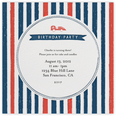 Grab the Keys - Tomato - Mr. Boddington's Studio - Kids' Birthday Invitations