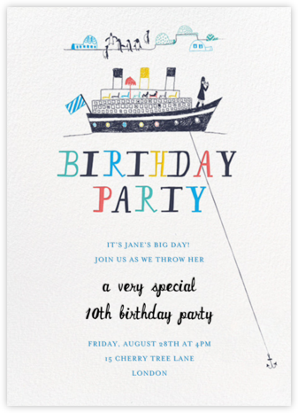 My Toddler's Yacht - Multi - Mr. Boddington's Studio - Online Kids' Birthday Invitations