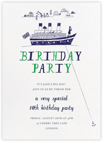My Toddler's Yacht - Great Scot - Mr. Boddington's Studio - Online Kids' Birthday Invitations