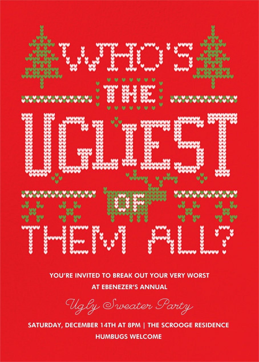 Ugly sweater party invitations online at Paperless Post