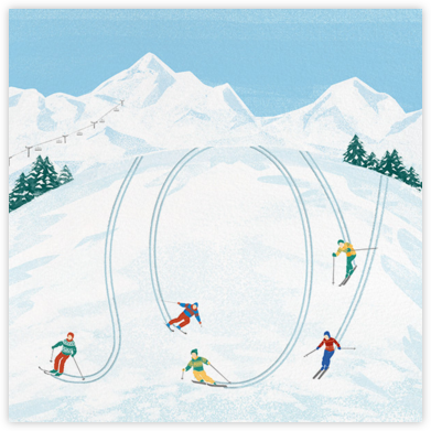 The Joy of Skiing - Paperless Post - Holiday Cards