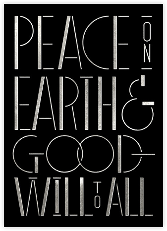 Peace Moderne - Silver - Paperless Post -