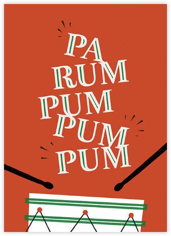 Pa Rum Pum Pum Pum - Paperless Post - Affordable Christmas Cards