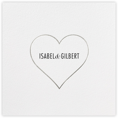 Heart Line - Silver - Paperless Post - Save the dates