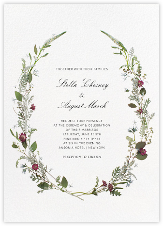 Winter Wilds - Paperless Post - Wedding Invitations