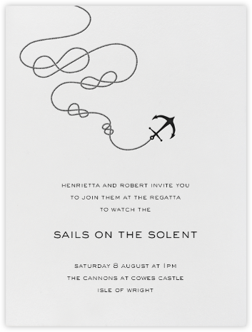 Port of Call - Ivory Black - Paperless Post - Sporting Event Invitations