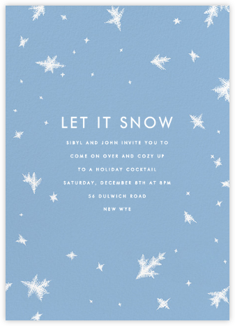 Snow Crystals - Paperless Post - Holiday invitations