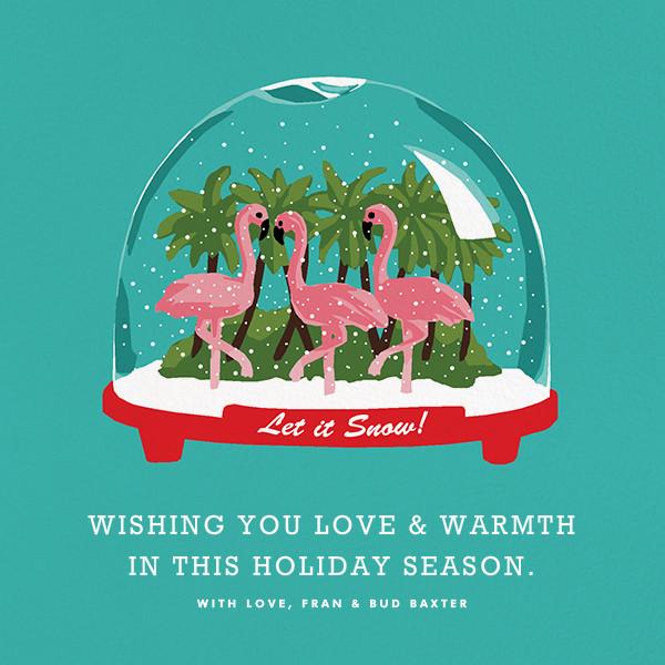 Tropical Snowglobe - Hannah Berman - Holiday cards