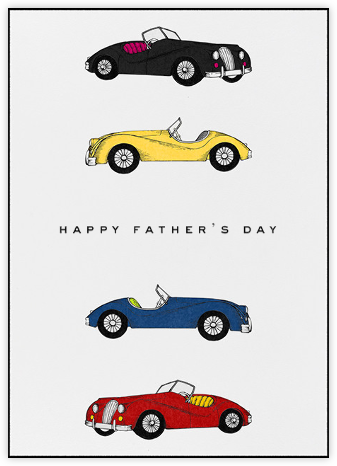 Classic Roadsters - White - Paperless Post - Father's Day cards