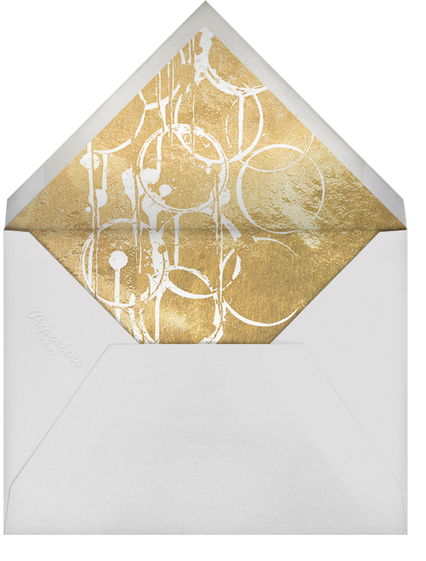 Bottle Shock - Gray/Gold - Kelly Wearstler - Cocktail party - envelope back