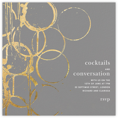 Bottle Shock - Gray/Gold - Kelly Wearstler