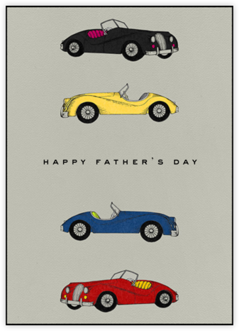 Classic Roadsters - Grey - Paperless Post - Father's Day Cards