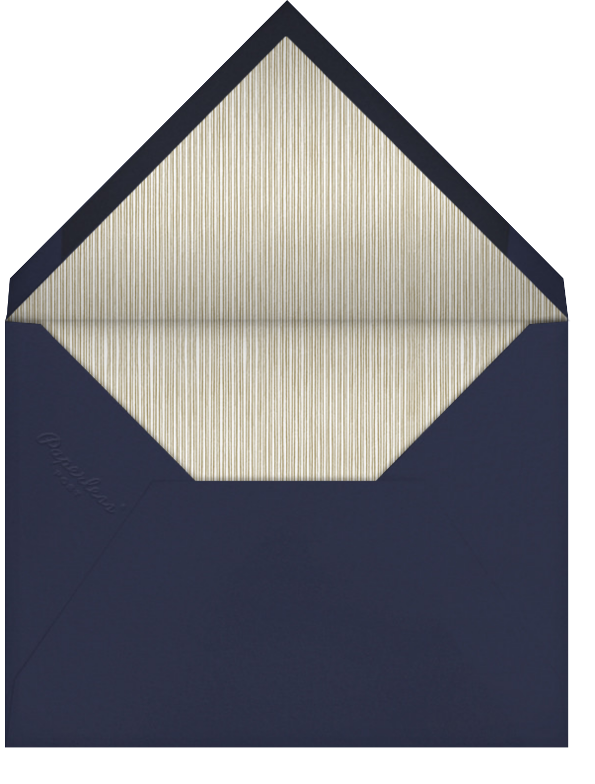 Oro - Blue (Tall) - Paperless Post - Cocktail party - envelope back