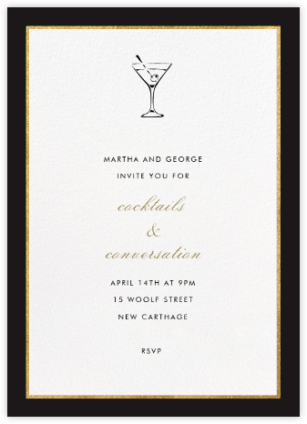 Oro - Black (Tall) - Paperless Post - Online Party Invitations