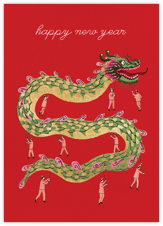 Holiday Dragon (Becca Stadtlander) - Red Cap Cards -