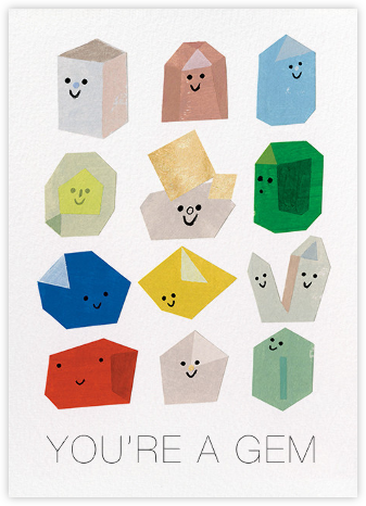 Gem Buddies (Christian Robinson) - Red Cap Cards - Valentine's day cards