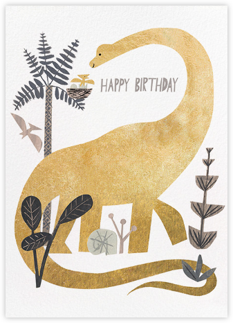 Dinosaur Birthday (Christian Robinson) - Red Cap Cards - Birthday Cards for Her