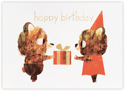 Two Bears Birthday (Chris Sasaki) - Red Cap Cards - Red Cap Cards