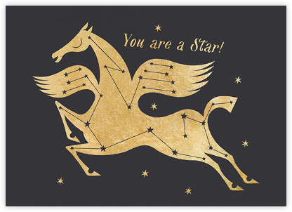Star Horse (Lesley Barnes) - Red Cap Cards - Congratulations cards
